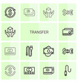 14 transfer icons vector image vector image