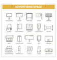 advertising media constructions spaces thin vector image vector image