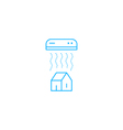Air conditioning linear logo and icon vector image vector image