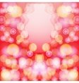 Bright red abstract background with bokeh effect vector image