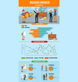 building people infographic concept vector image vector image