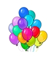 Bunch of three bright and colorful balloons vector image vector image