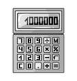 calculatorrealtor single icon in monochrome style vector image