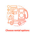 car rental properties concept icon vector image vector image