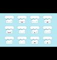 Chief cap emoji vector image vector image