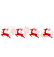 christmas greeting poster with red reindeer and vector image vector image