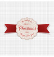 circle merry christmas greeting banner with text vector image vector image
