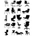 Classic chairs vector image
