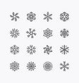 collection of christmas snowflake ornament icons vector image