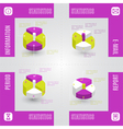 Colorful infographic statistic elements vector image vector image