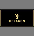 cs hexagon logo vector image vector image