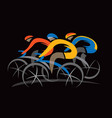 cyclists competition vector image