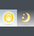 day and night with sun and moon vector image vector image