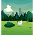 dog at park peeing bush vector image vector image