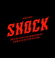eclectric shock style font design alphabet vector image vector image