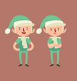 Expressive Elf in Different Poses vector image