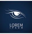eye icon look human vision symbol vector image vector image