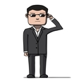 Funny cartoon bodyguard Security vector image vector image