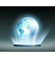 Global network Hologram vector image vector image