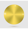 gold metal badges on white background vector image