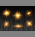 golden lights set vector image