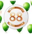 Golden number eighty eight years anniversary vector image vector image