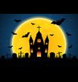 halloween graveyard church vector image vector image