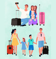 happy family with kids traveling image vector image