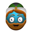 happy wise man emoji vector image