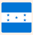 honduras square flag button social media vector image vector image