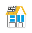 house with solar roof panel for real estate vector image vector image
