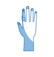 human hand with finger bandage medical vector image vector image