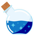 icon magic potion glass magical tube vector image vector image