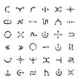 Ink arrows set vector image vector image