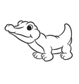 krokodile black and white vector image vector image
