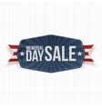 Memorial Day Sale national Label with Ribbon vector image vector image