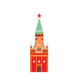 moscow kremlin flat fortified vector image vector image