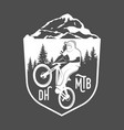 mountain bike badges vector image vector image