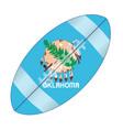 oklahoma state usa football flag vector image vector image