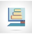 Online library flat color design icon vector image