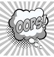 oops pop art advert vector image