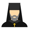 Orthodox priest icon flat style vector image vector image