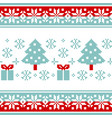 pattern for knitting with christmas tree and gifts vector image vector image
