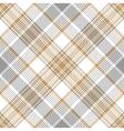 Platinum gold tartan diagonal seamless pattern vector image