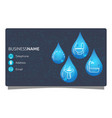 plumbing business card concept vector image vector image