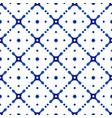 porcelain indigo pattern vector image vector image