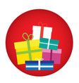 present theme flat style colorful icon vector image vector image