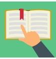 Reading book flat symbol vector image vector image
