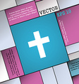 religious cross Christian icon sign Modern flat vector image vector image