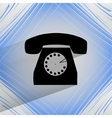 Retro telephone Flat modern web button on a flat vector image vector image